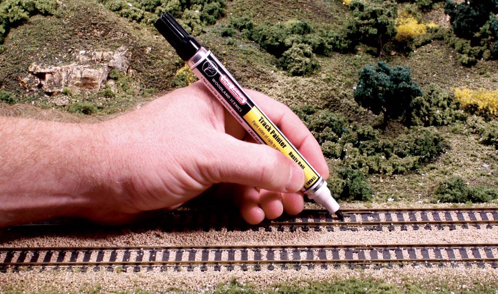 Feutre pour peindre les rails couleur rouille woodland - Peindre sur rouille ...