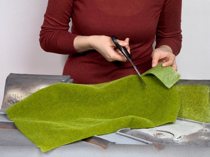 tapis de prairie vert fonc noch noc 00414 maurienne mod lisme ferroviaire. Black Bedroom Furniture Sets. Home Design Ideas